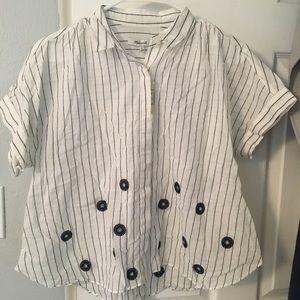 Madewell cotton shirt.    NEW
